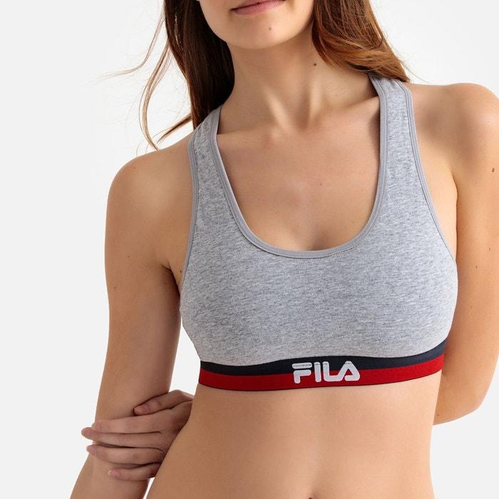 Fila 2 bra fu6048 brassiere femme gris chiné Fila   La Redoute cc6616a147af