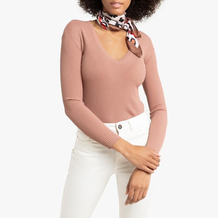Skinny Ribbed V Neck JumperSweater