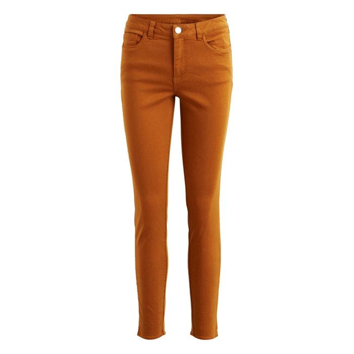 58b5bde3fed8 Pantalon slim 7 8 zippé bas Vila noisette