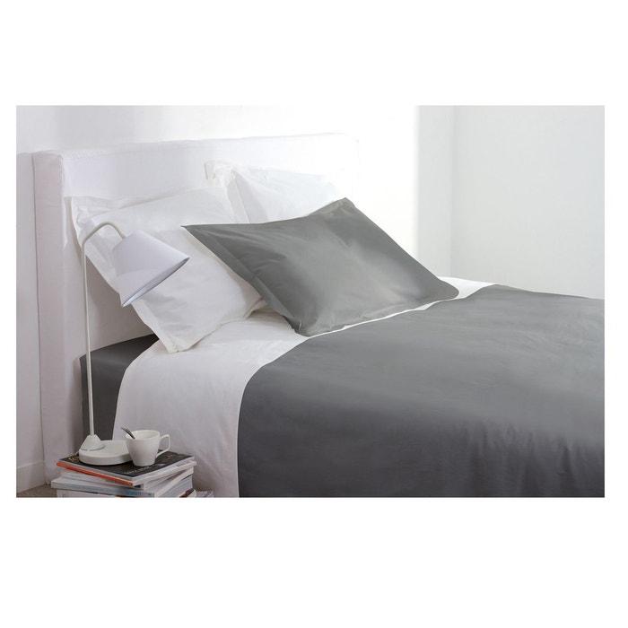 housse de couette 220 x 240 cm gris atmosphera la redoute. Black Bedroom Furniture Sets. Home Design Ideas
