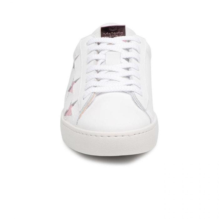 Chaussures deportivo laser estrellas rosa w blanc Victoria