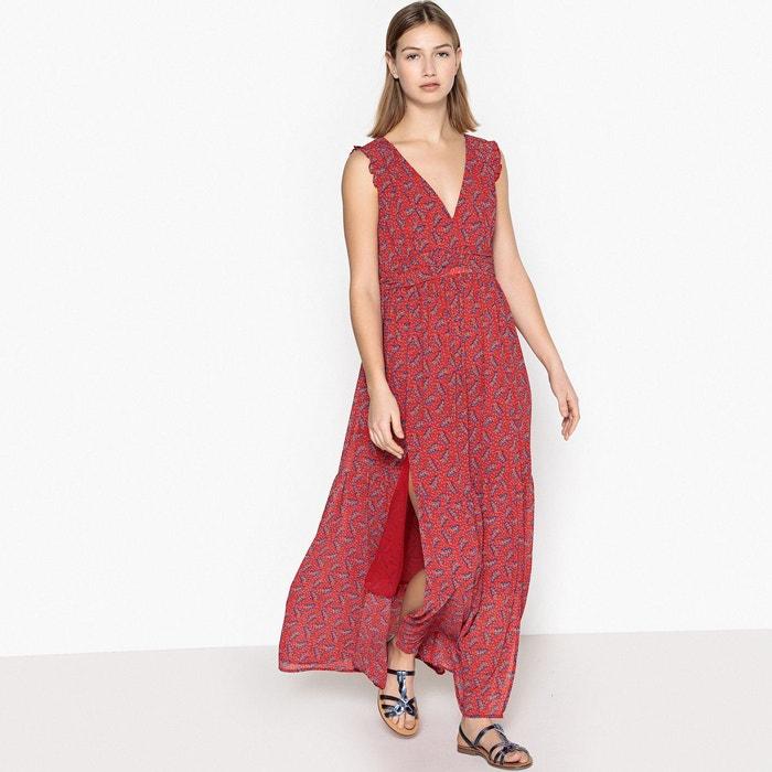 44b79b466deed Robe sans manches très longue imprimée fleurs rouge imprimé See U Soon   La  Redoute