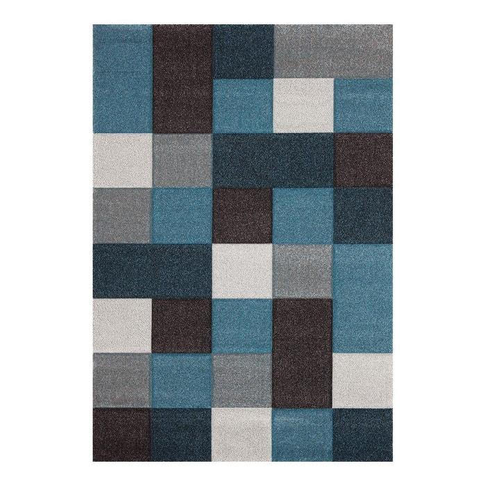 tapis courtes mches pour salon bleu eden allotapis image 0 - Tapis De Salon Bleu