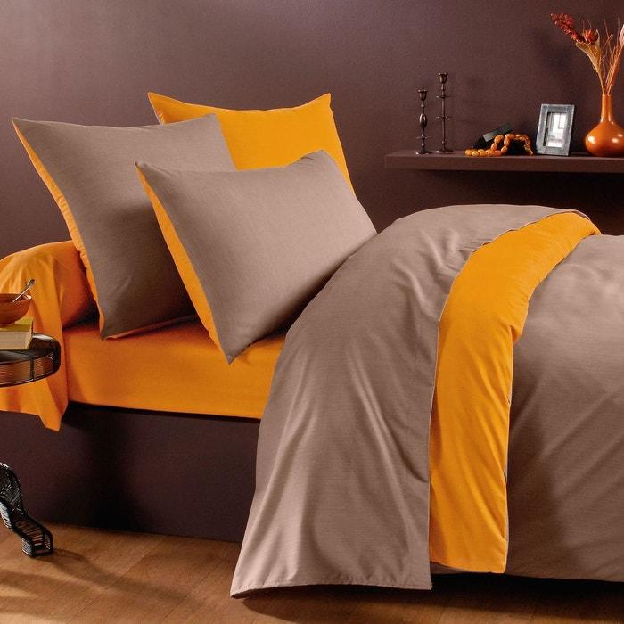 housse de couette zeste en microfibre curry taupe curry taupe origin la redoute. Black Bedroom Furniture Sets. Home Design Ideas