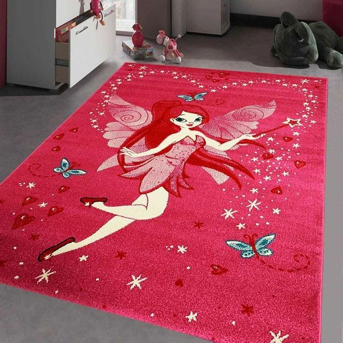 tapis kids fee rose tapis enfants 80 x 150 cm rose un amour de tapis la redoute. Black Bedroom Furniture Sets. Home Design Ideas
