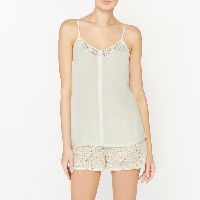 afbeelding Pyjashort, topje met smalle schouderbandjes La Redoute Collections