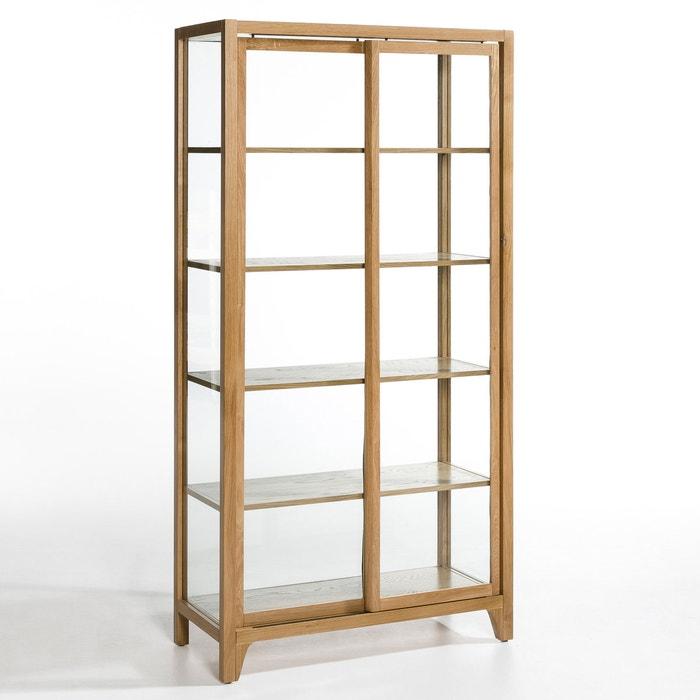 vitrine saga seiten und r ckwand glas natureicheholz am. Black Bedroom Furniture Sets. Home Design Ideas