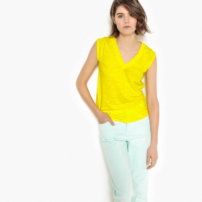 T-shirt zonder mouwen met V-hals  La Redoute Collections image 0