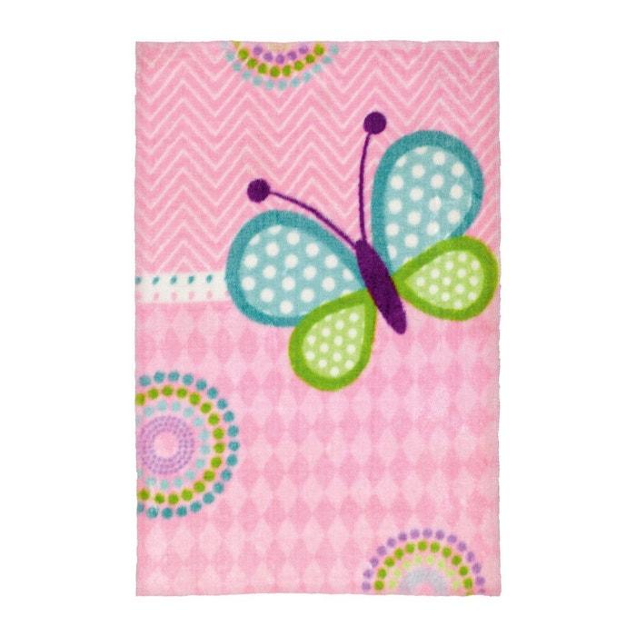 Tapis pour chambre de fille doux multicolore butterfly multicolore ...