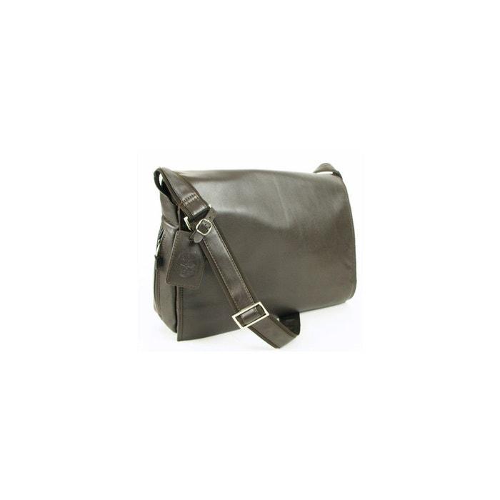 Besace cuir lisse noir L'aiglon | La Redoute Officiel Pas Cher Vente Trouver Grand Vente Boutique Réduction En Ligne Pas Cher QBV59zeqa
