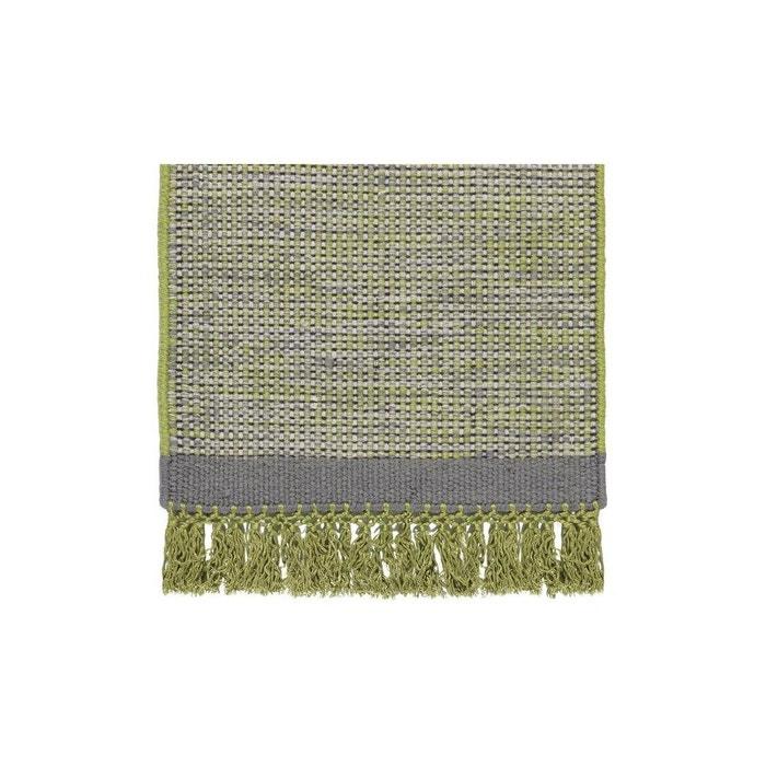 Tapis en laine avec franges vert hyro vert allotapis la redoute - Tapis laine la redoute ...