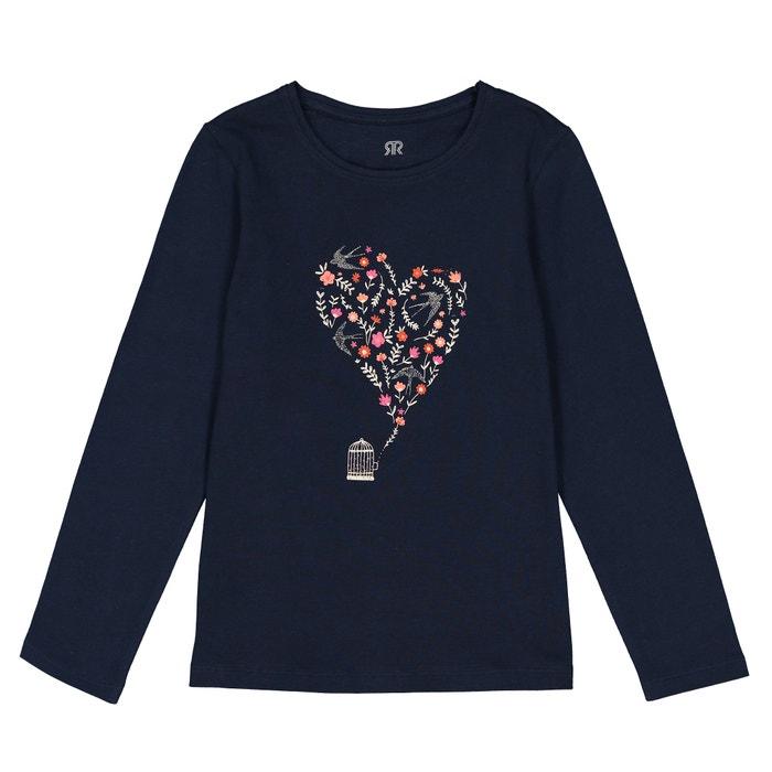 """T-shirt maniche lunghe """"cuore"""" 3 - 12 anni  La Redoute Collections image 0"""