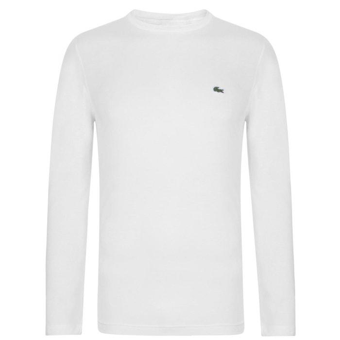 3bf55625af T-shirt col rond manche longue Lacoste | La Redoute