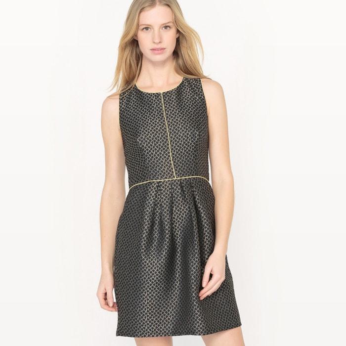 afbeelding Getailleerde jurk in glanzend jacquard MOLLY BRACKEN
