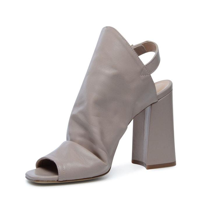 Sandales à talon rose Sacha