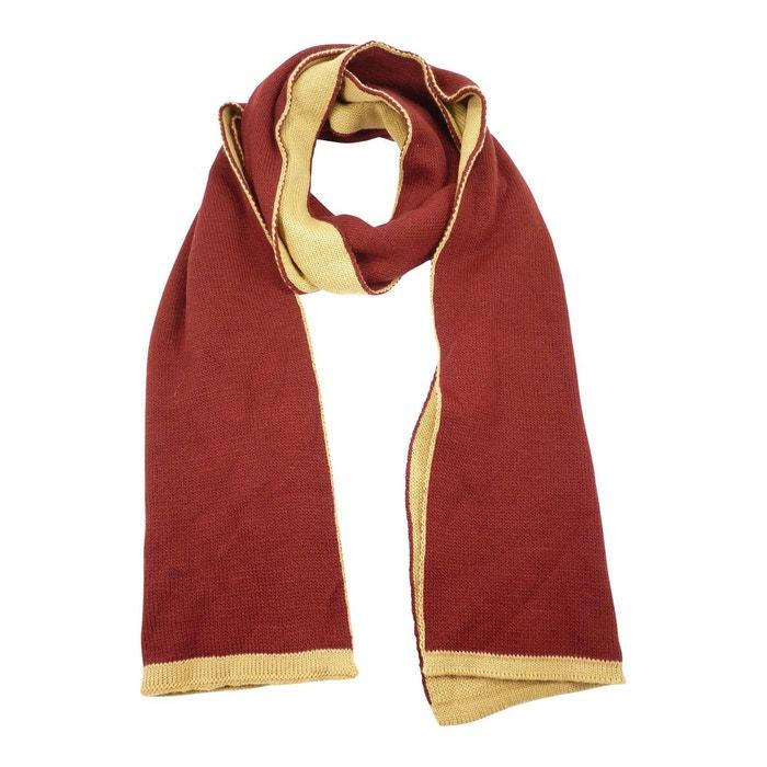 5d9f0c5e476 Echarpe laine merinos uni bi-face homme rouge Chaussmaro