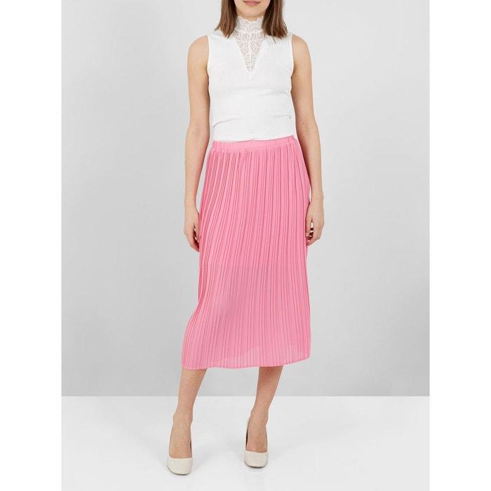 jupe mi longue rose pliss e lastique azalea pink yas la redoute. Black Bedroom Furniture Sets. Home Design Ideas
