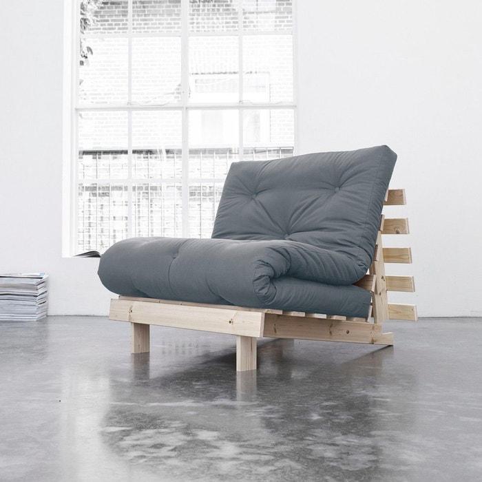 pack matelas futon gris clair coton structure en bois naturel terre de nuit gris terre de nuit. Black Bedroom Furniture Sets. Home Design Ideas