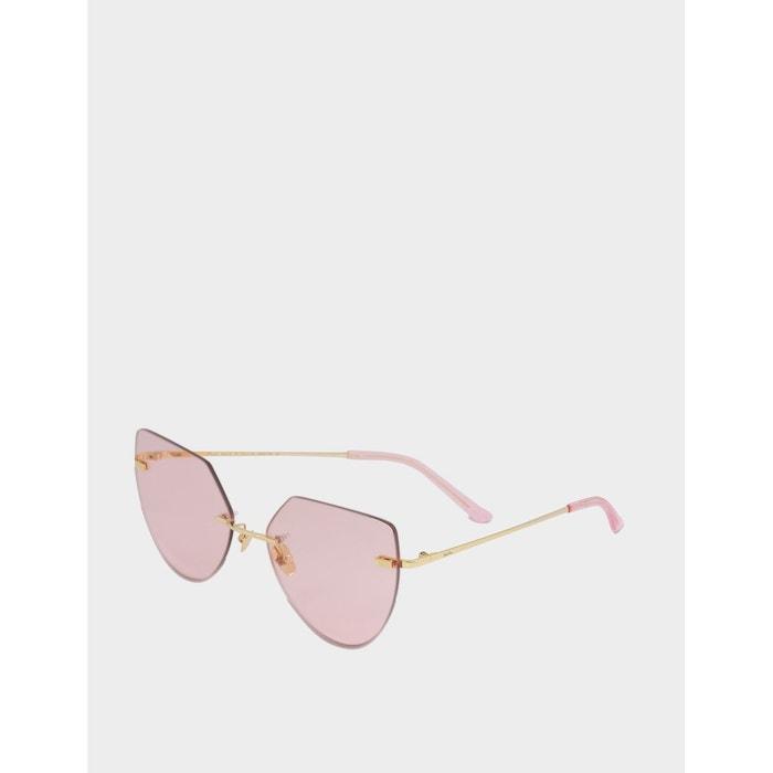 Hornz rose camouflage polarisé des lunettes de soleil pour les femmes strass accents et égalant pochette en microfibres – Cadre camo rose – Ambre lentille YWTYleO