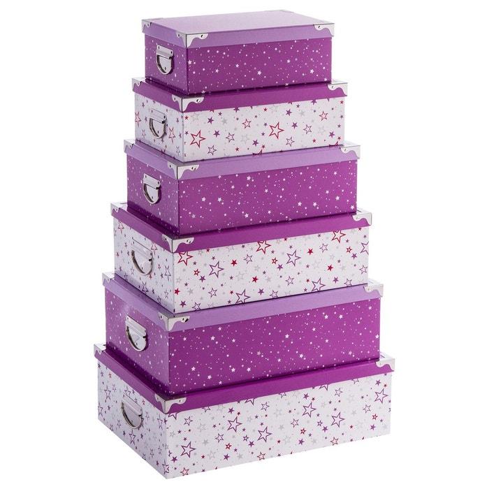 6 bo te de rangement violet violet atmosphera la redoute for La redoute boite a couture