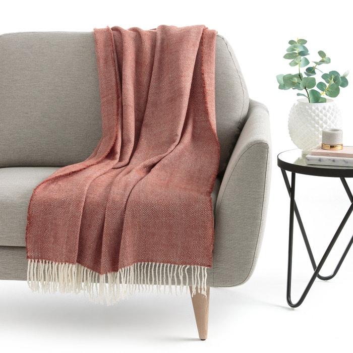 plaid dungi terracotta la redoute interieurs la redoute. Black Bedroom Furniture Sets. Home Design Ideas