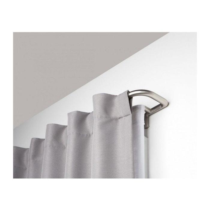 tringle rideaux double extensible occultant chrome inox umbra la redoute. Black Bedroom Furniture Sets. Home Design Ideas