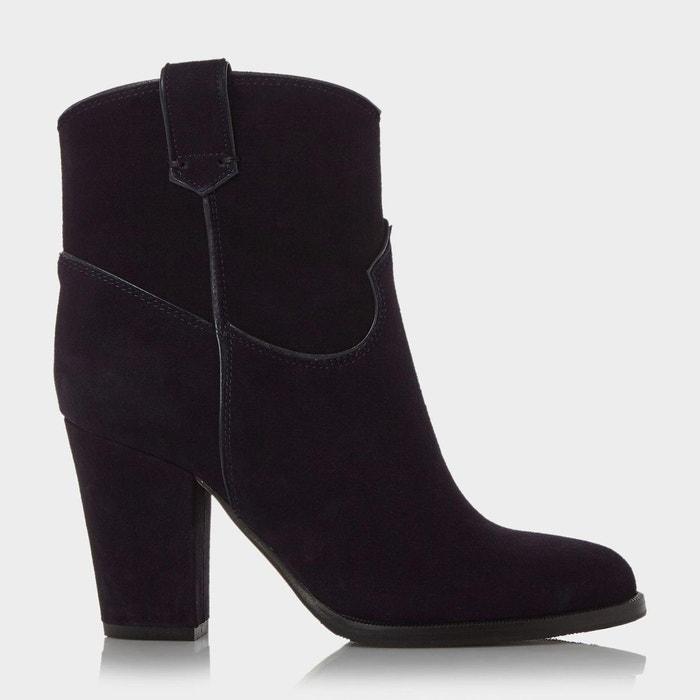 Heeled western style ankle boot - padbury Dune Black