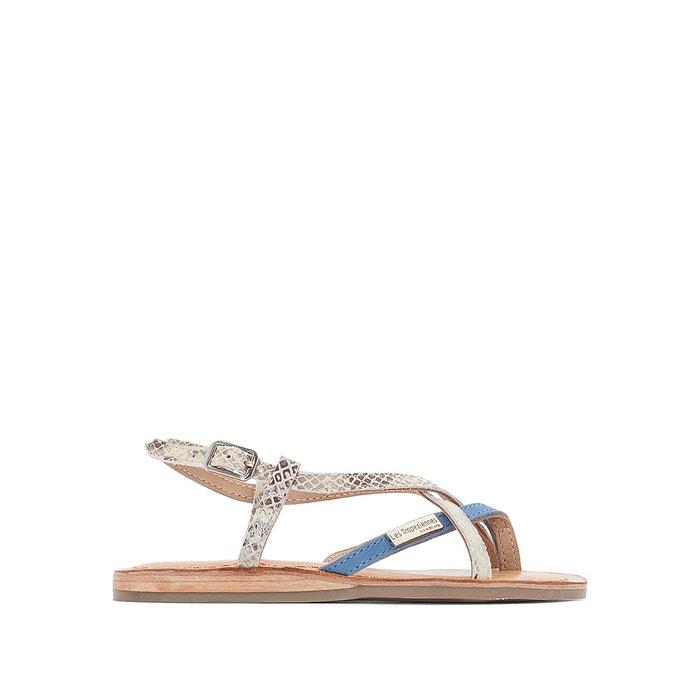 Sandales en cuir BONBON, talon plat  LES TROPEZIENNES PAR M.BELARBI image 0