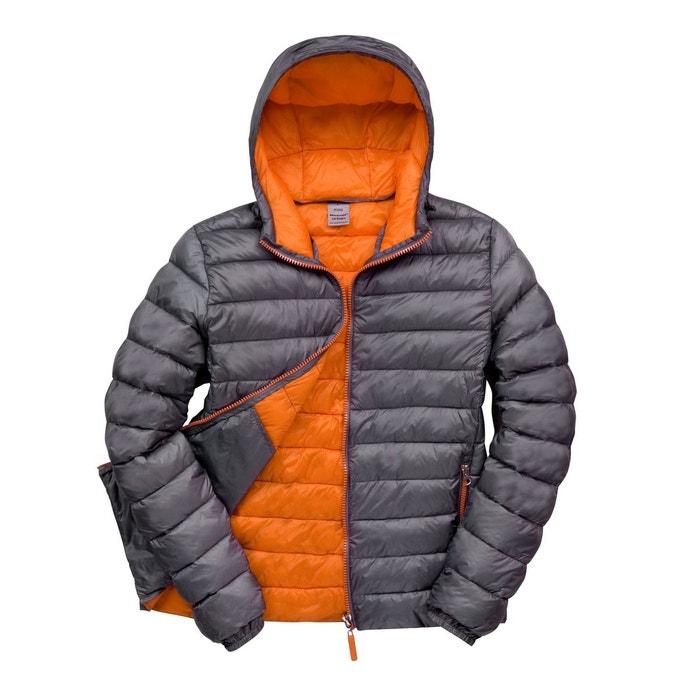 Blouson doudoune capuche orange Fashion Cuir   La Redoute 4e1bfbf150dc