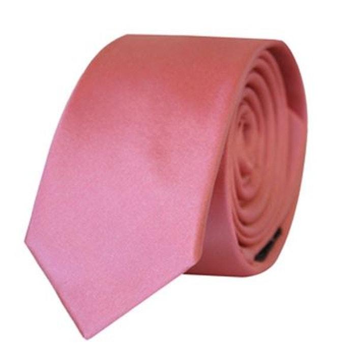 d0669d5e91ba7 Cravate satin slim saumon Kebello | La Redoute