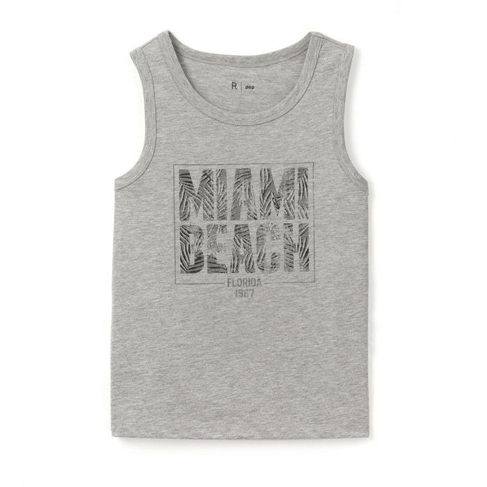 afbeelding Bedrukt hemdje Miami Beach 10-16 jr La Redoute Collections