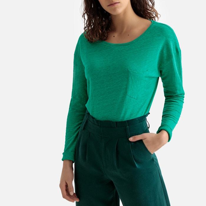 f3e06a605b7e T-shirt en lin col rond manches longues T-shirt en lin col rond. Spring  Break. LA REDOUTE COLLECTIONS