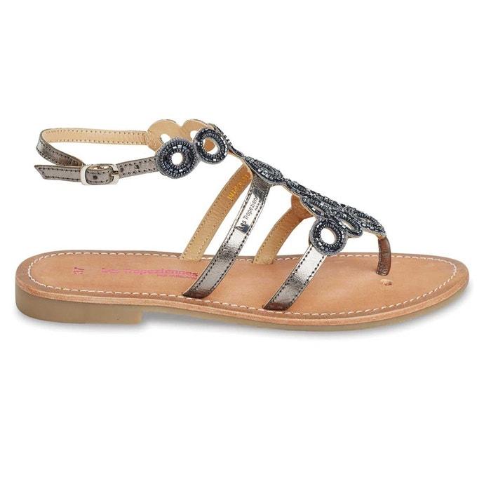 Sandales plates en cuir métalliséLes Tropeziennes Sortie 2018 Nouvelle Moins Cher Pas Cher En Ligne Achat En Ligne fLyGE1PZ9