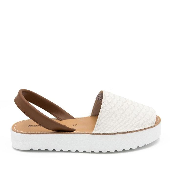 Sandales en cuir blanche Maria Barcelo officiel nwpHRn8u