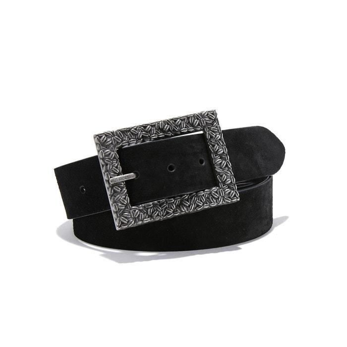 Cinturón ancho de piel vuelta large en croûte de cuir  La Redoute Collections image 0