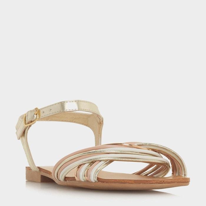 Sandales à brides torsadées - loaki doré synthétique Head Over Heels By Dune