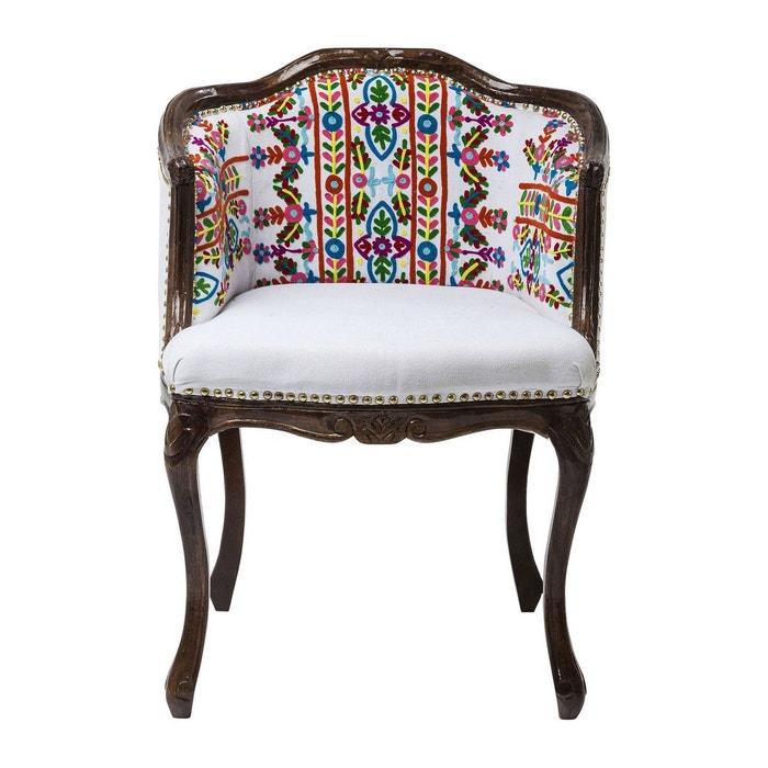 Chaise avec accoudoirs lotta kare design blanc kare design la redoute for Chaise kare design