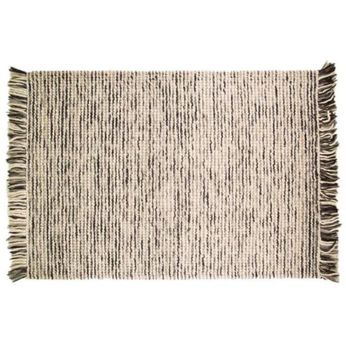 Tapis 100 laine finition manuelle azteca 120x170 charbon gris flair rugs l - Tapis laine la redoute ...