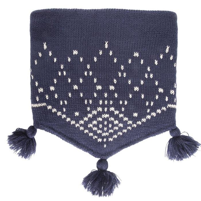 Tour de cou enfant jacquard géométrique fil textile marine Isotoner   La  Redoute 0b103a1f58b