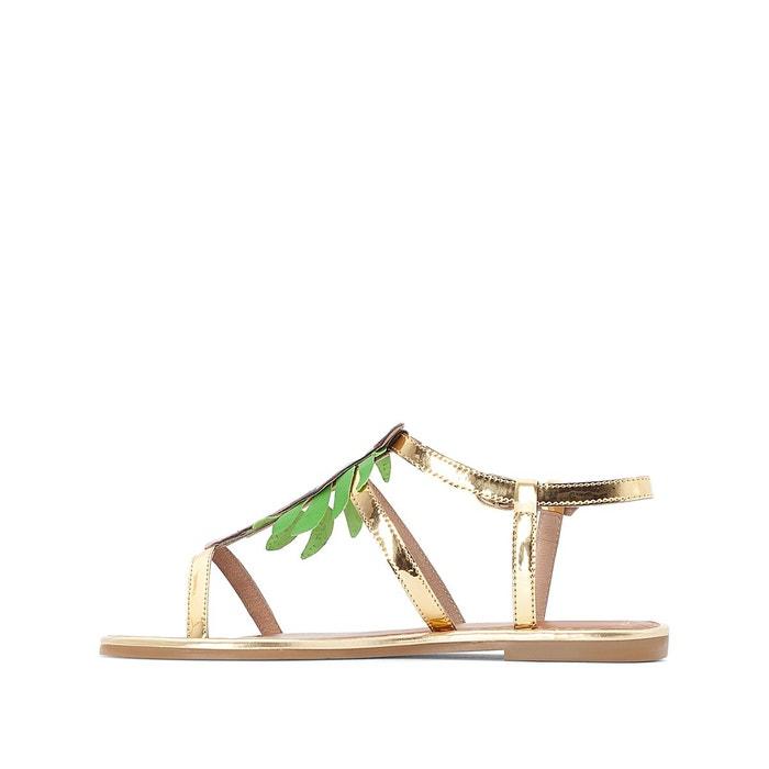 ... Sandales cuir détail perroquet La Redoute Collections (4) ...
