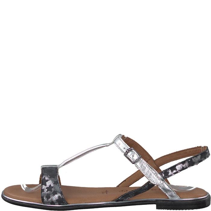 Sandales cuir Kim - TAMARIS - Noir/ArgentTamaris k2U7Fkk