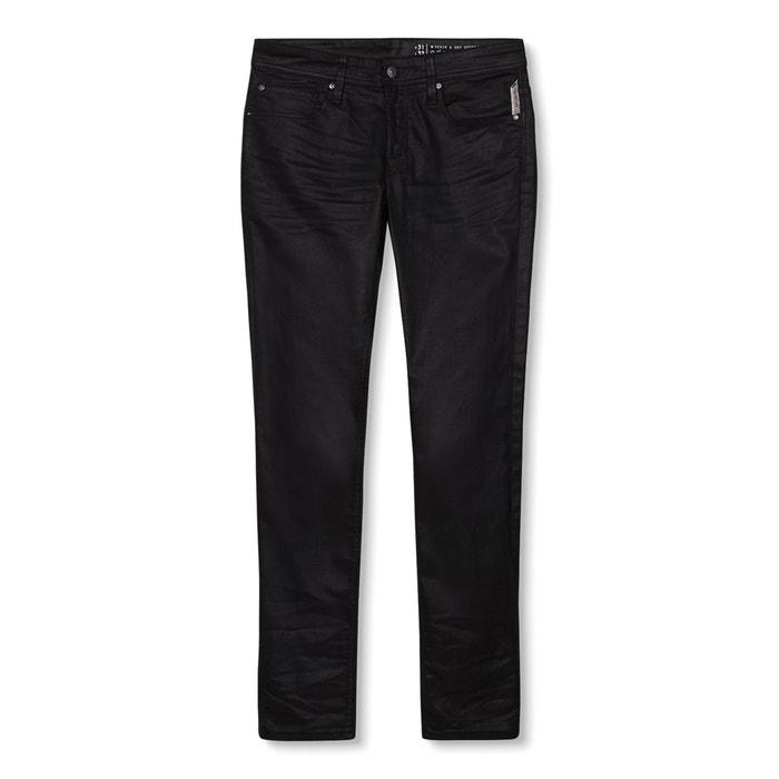 Jeans corte slim efeito revestido  ESPRIT image 0