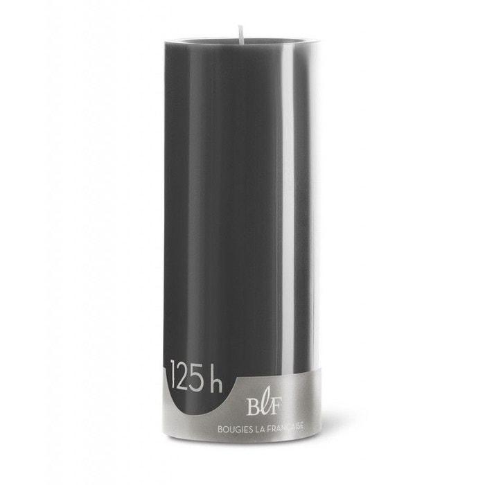 Bougie cylindrique 20cm 125h gris zinc gris Bougies La Française ...