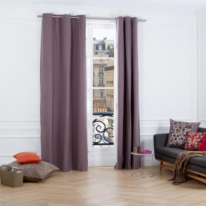 rideau oeillets polyester evidence gris clair madura la redoute. Black Bedroom Furniture Sets. Home Design Ideas