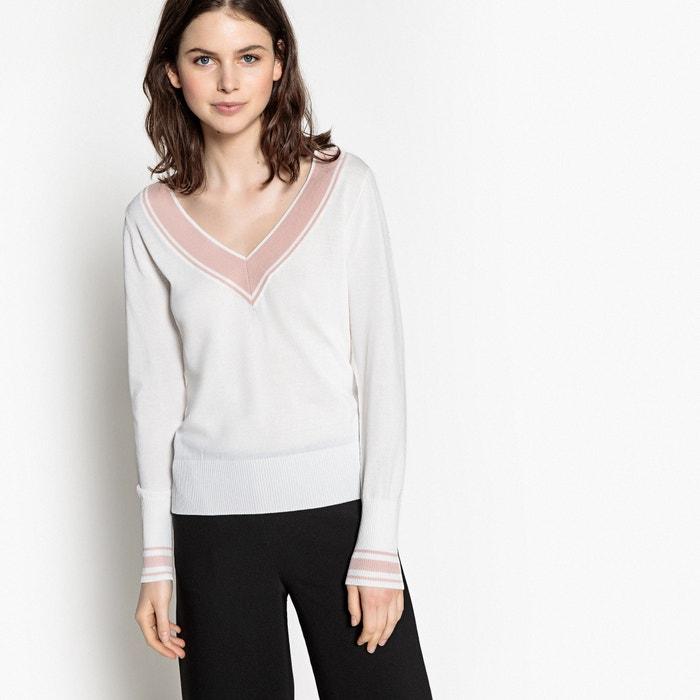 facfc5f3bcc Пуловер с V-образным вырезом из тонкого трикотажа LA REDOUTE COLLECTIONS