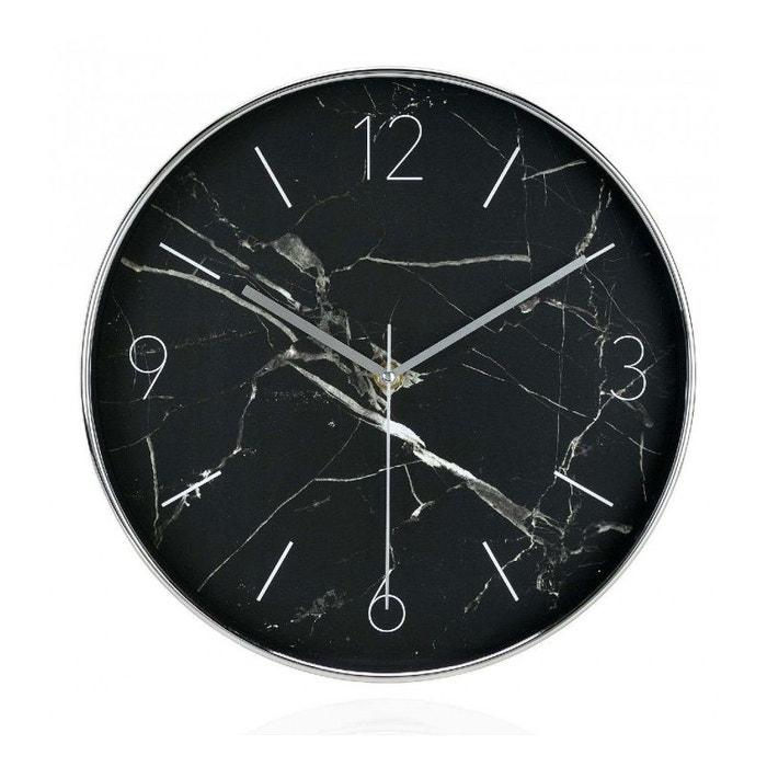 horloge murale ronde noire effet marbre diam 30cm noir wadiga la redoute. Black Bedroom Furniture Sets. Home Design Ideas