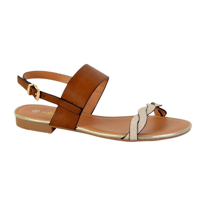 Sandale marron The Divine Factory