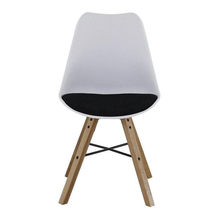 2x chaise pi tement ch ne tya zago la redoute. Black Bedroom Furniture Sets. Home Design Ideas