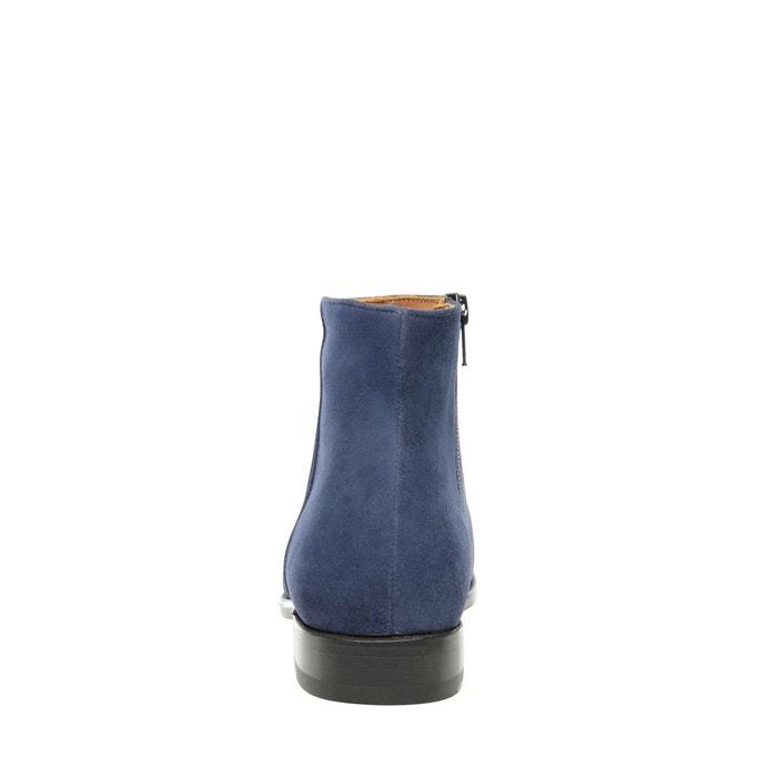 Bottines en velours bleu bleu Shoepassion