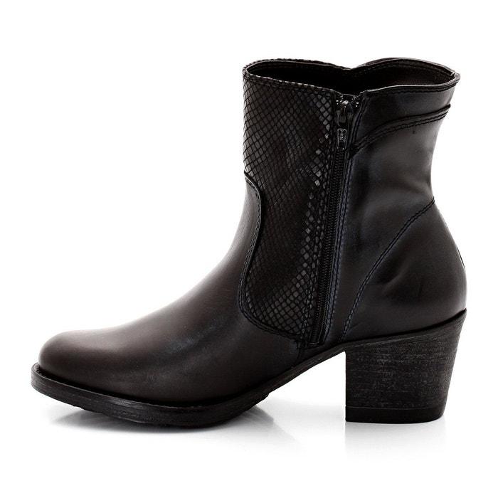 Boots cuir anthracite Tamaris